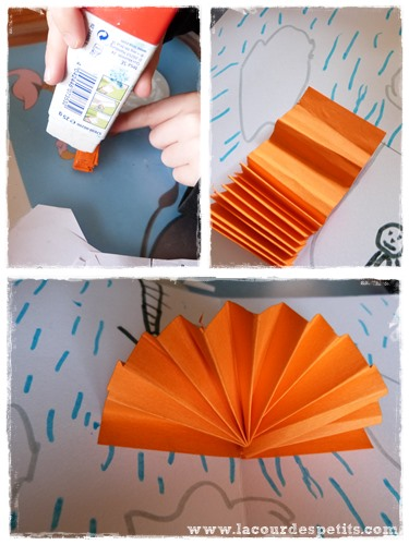 Bricolage carte pop-up parapluie