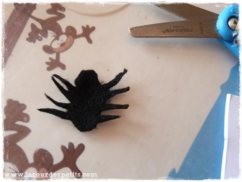 Bricolage halloween araignee feutrine