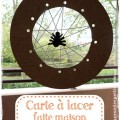 Bricolage Halloween carte a lacer Une