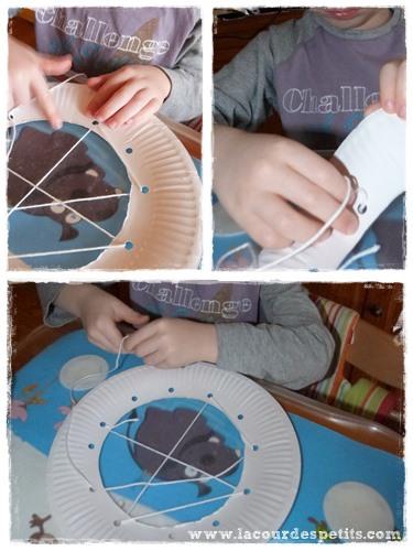 Bricolage Halloween carte a lacer tisse
