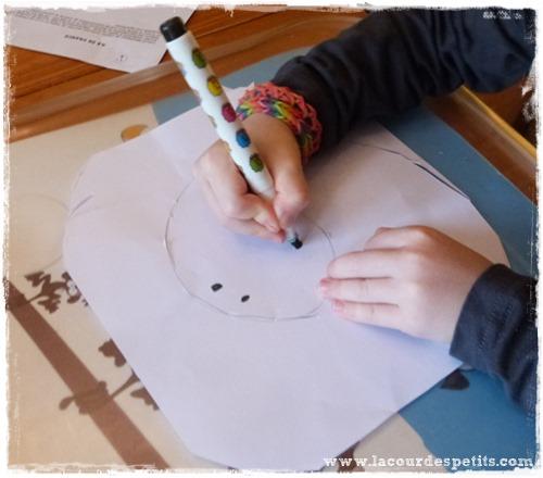 Bricolage halloween fantome papier dessin