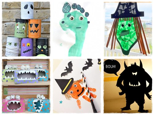 42 bricolages d 39 halloween de derni re minute la cour des petits. Black Bedroom Furniture Sets. Home Design Ideas