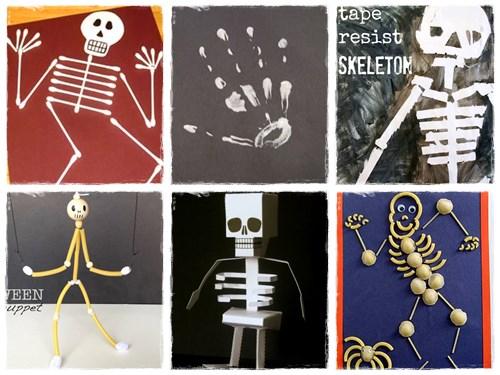 Bricolage Halloween squelette