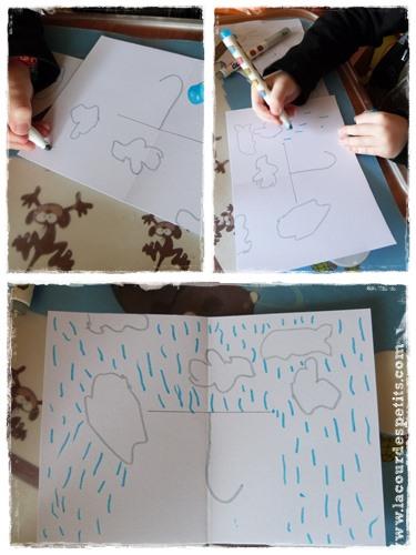 Bricolage pluie carte pop-up