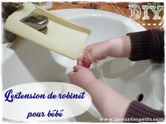 Extension robinet enfant Une