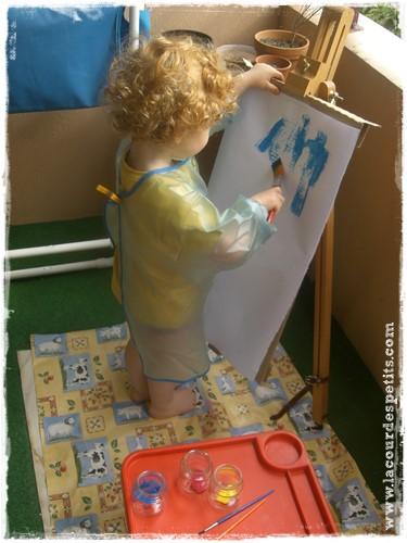 Peinture enfant chevalet