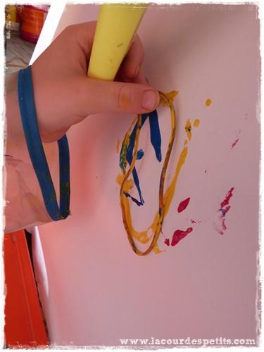 Peinture enfant sans pinceaux elastique