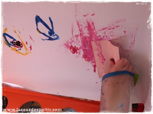 Peinture enfant sans pinceaux post-it