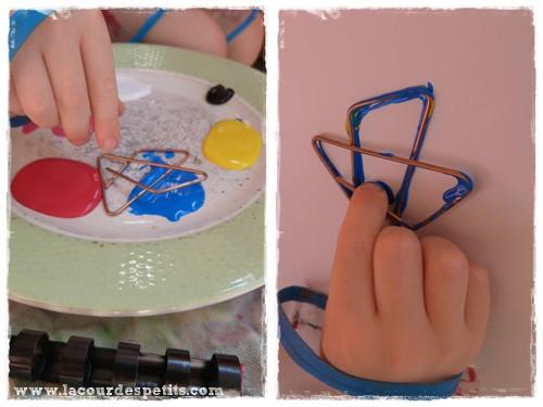 peinture pour enfant sans pinceaux 2 la cour des petits. Black Bedroom Furniture Sets. Home Design Ideas