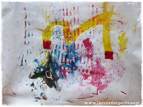 Peinture enfant sans pinceaux