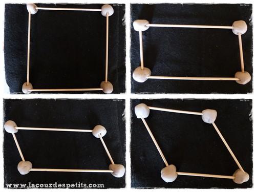 Formes geometriques maternelle pate a modeler 4 cotes