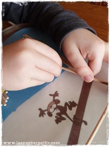 Formes geometriques maternelle pate a modeler montage