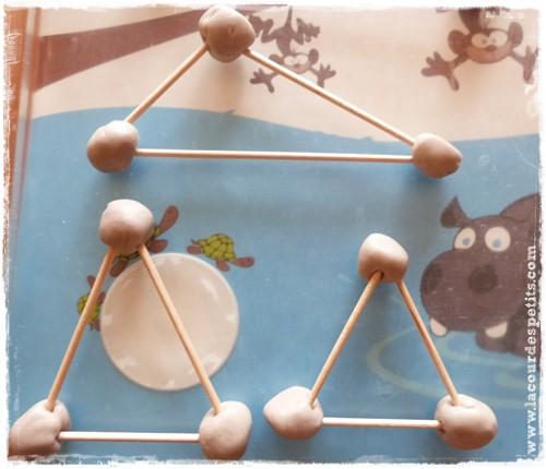 Formes geometriques maternelle pate a modeler triangle