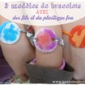 Bracelet plastique fou enfants
