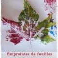 Bricolage automne feuille peinture Une