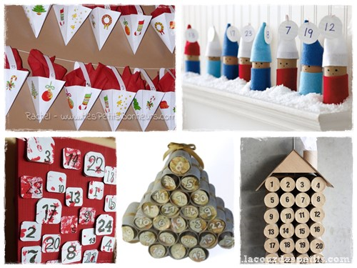 Calendrier avent fabriquer recyclage