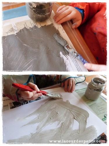 Calendrier avent peinture