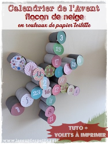 bricolage en rouleaux de papier toilette 5 un calendrier de l 39 avent la cour des petits. Black Bedroom Furniture Sets. Home Design Ideas