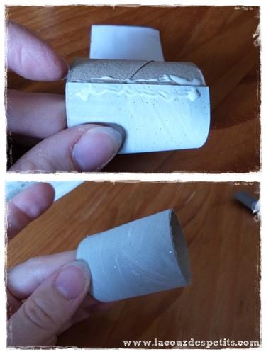 Calendrier avent rouleaux papier toilette colle