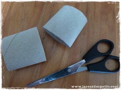 Calendrier avent rouleaux papier toilette decoupe
