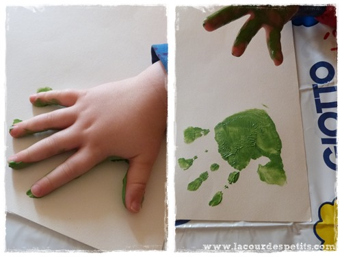 peinture doigt empreinte noel
