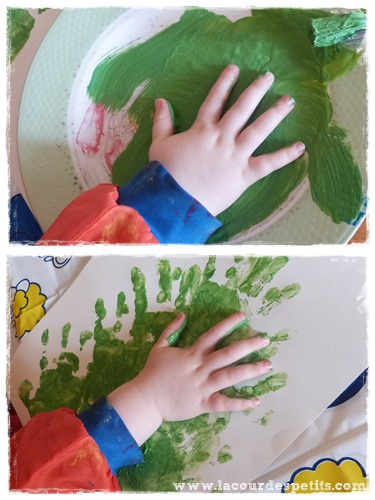 peinture doigt noel 2 ans