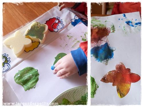 peinture eponges giotto