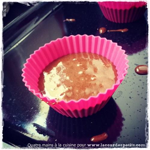Recette cupcake chocolat enfant remplissage
