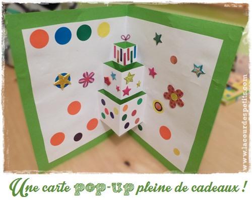une carte d anniversaire faite maison version pop up la cour des petits