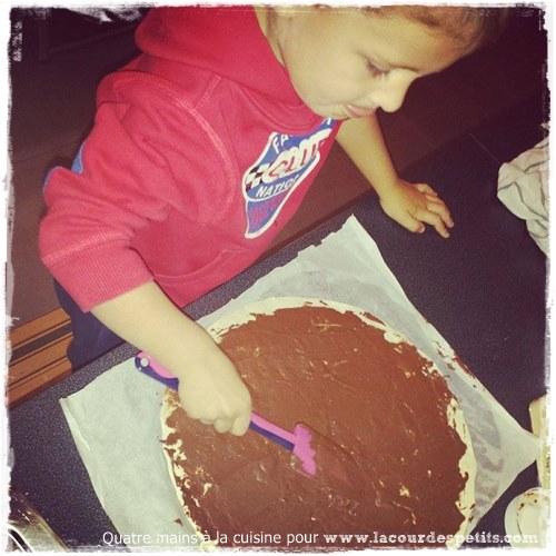 Couronne noel chocolat