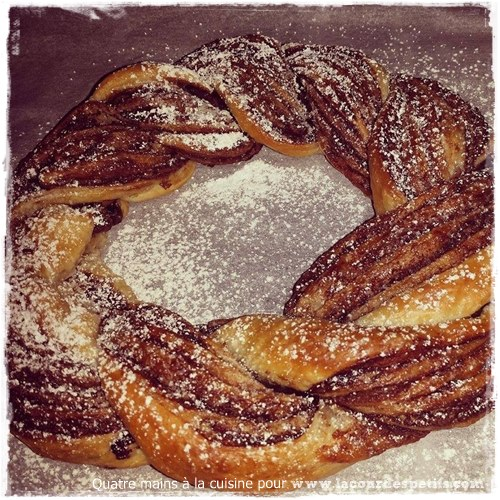 couronne pate feuilletee chocolat