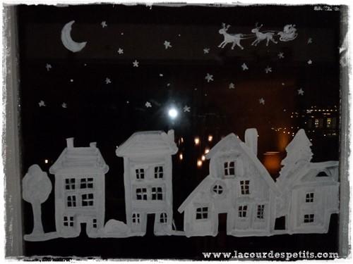 Recette de peinture de fenêtre pour Noël La cour des petits