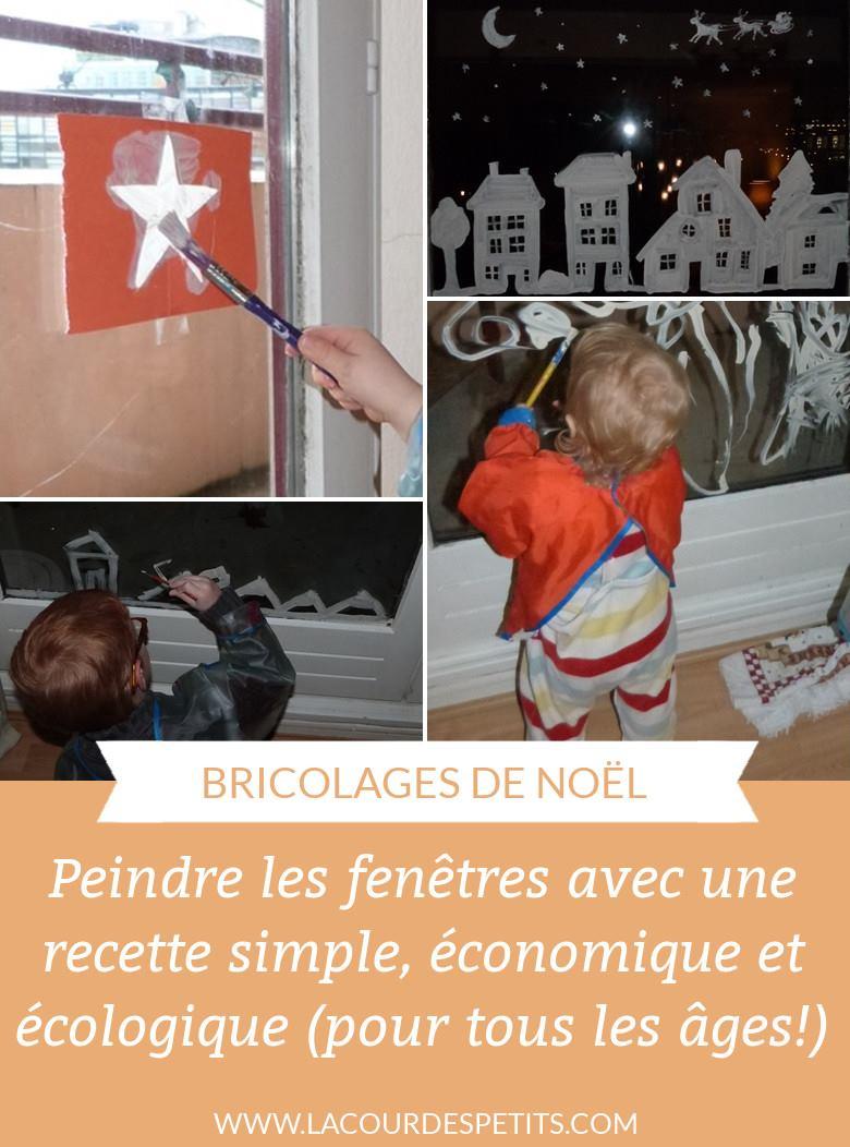 Recette De Peinture De Fenetre Pour Noel La Cour Des Petits