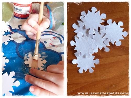Peinture flocon neige enfant