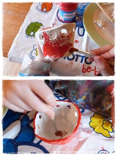 Peinture photophore noel enfant