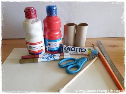 Rond serviette noel DIY materiel