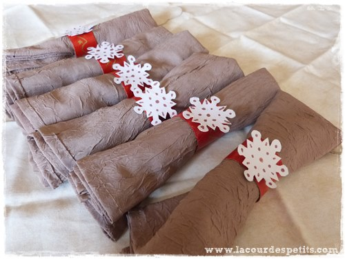 Rond serviette noel rouleau bricolage