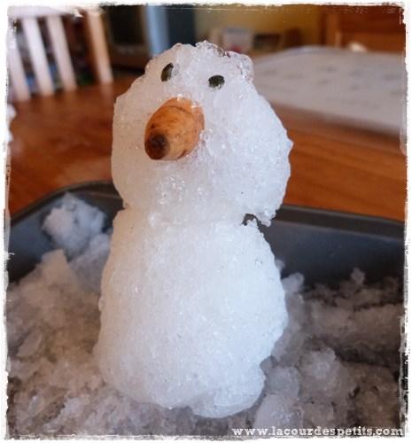 bonhomme neige interieur