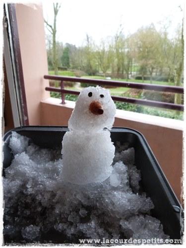 bricolage neige enfant