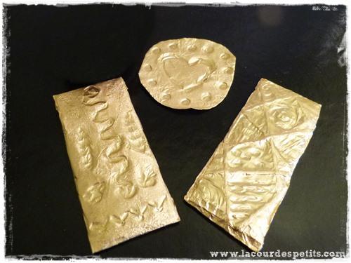DIY bijoux recup alu dore