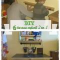 DIY bureau enfant gain de place