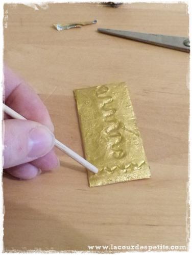 DIY recup bijoux dore