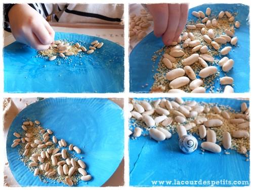 bricolage assiette carton aquarium