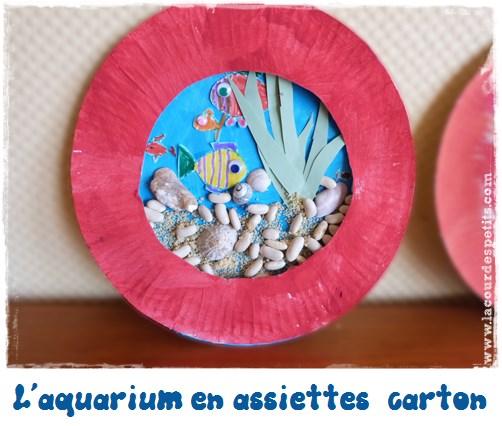 bricolage assiette carton poisson