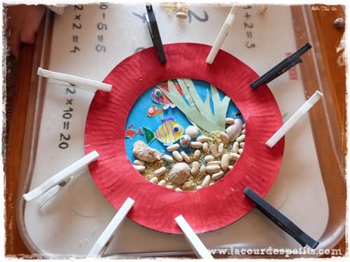les petits poissons bricolage avec assiette en carton la cour des petits. Black Bedroom Furniture Sets. Home Design Ideas