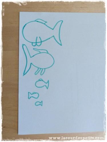 bricolage poisson dessin