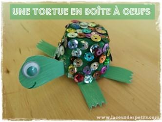 bricolage tortue boite oeuf