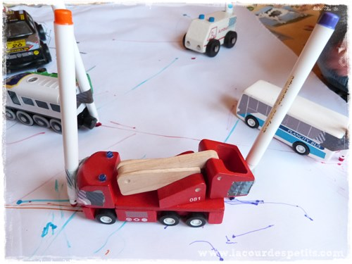 dessin camion feutres