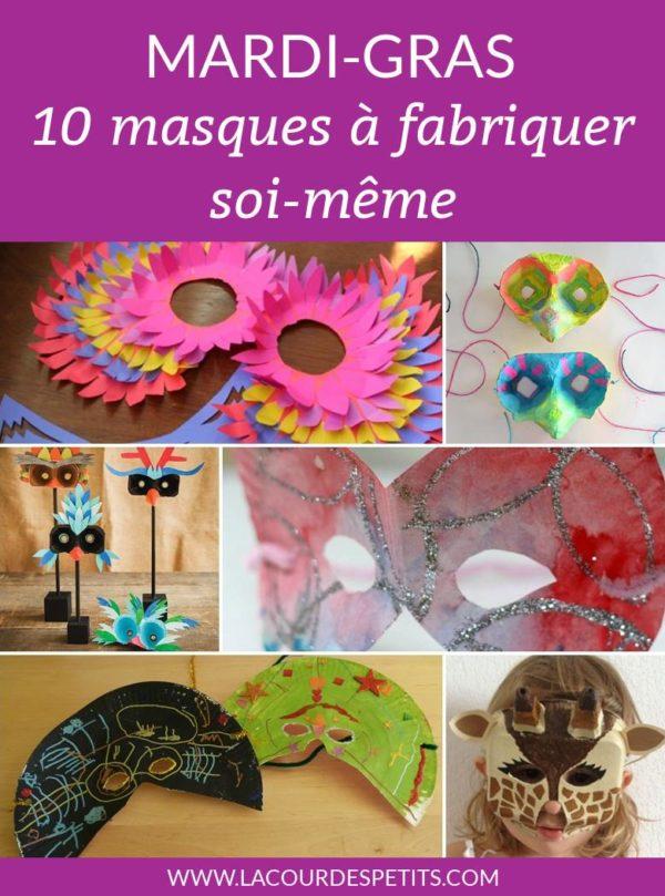 mardi gras 10 masques à fabriquer soi même