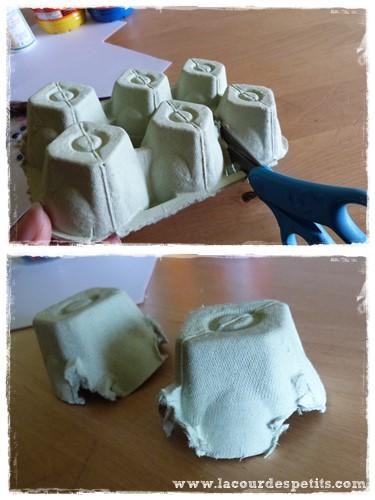 Bricolage tortue en bo te oeufs la cour des petits for Comment faire une boite en carton creteil